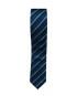 Krawatte Blau gestreift Slim